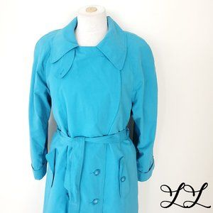 Terry Lewis Classic Luxuries Trench Coat Turquoise